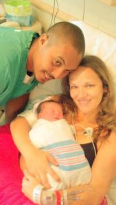 My brand new baby niece! My baby sister, her husband and new baby daughter born August 31, 2013